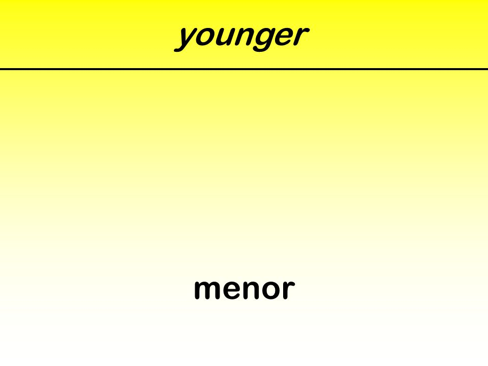 younger menor