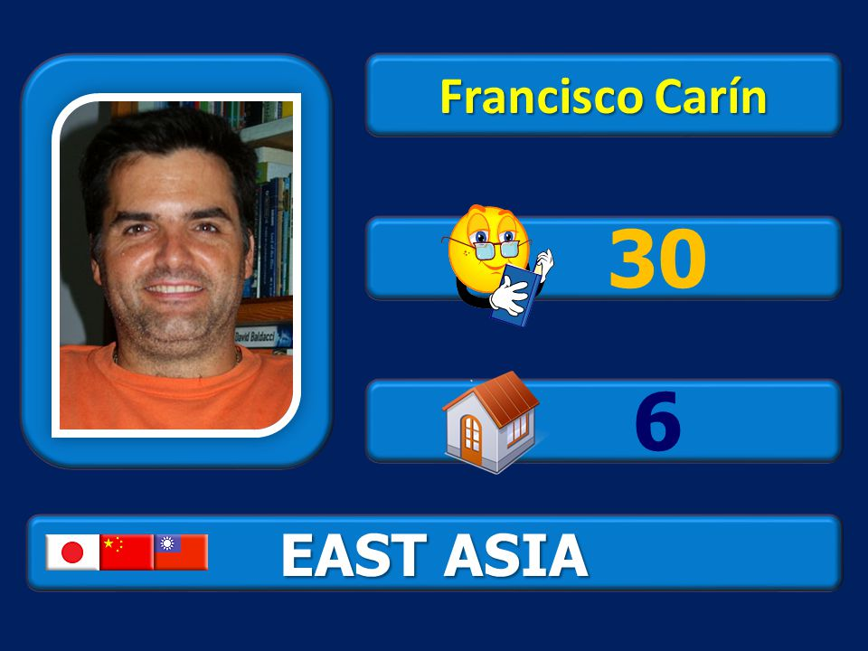 EAST ASIA Francisco Carín 30 6