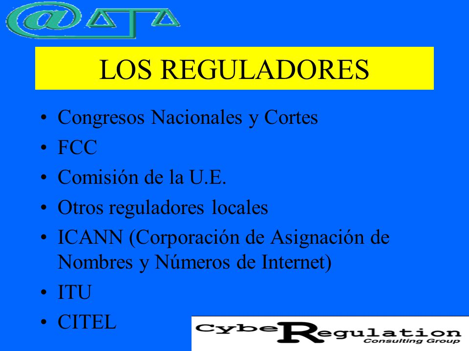 FORMAS DE REGULACION Control Legal Regulación Independiente Autorregulación Libertarismo