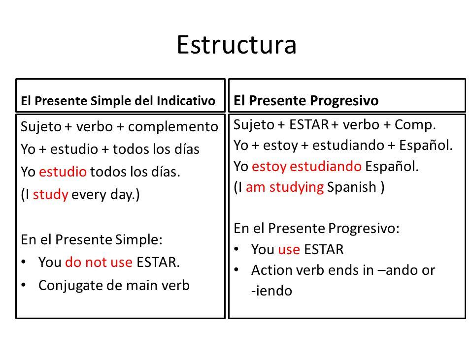 Diferencia Entre El Presente Simple Del Indicativo Y El