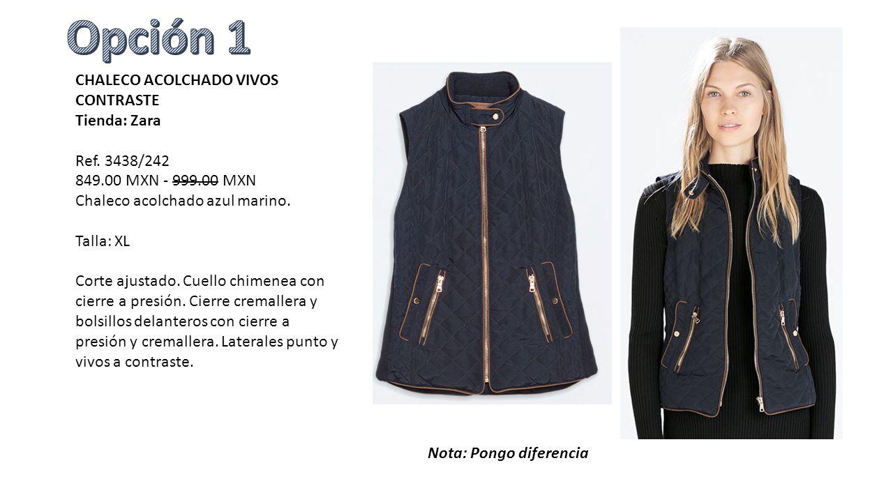 3ed0067ee CHALECO ACOLCHADO VIVOS CONTRASTE Tienda: Zara Ref. 3438/ MXN MXN ...