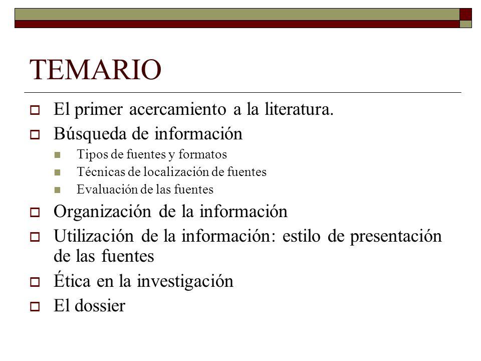 Revisión de la literatura Tema 2 Curso: Cultura investigadora ...
