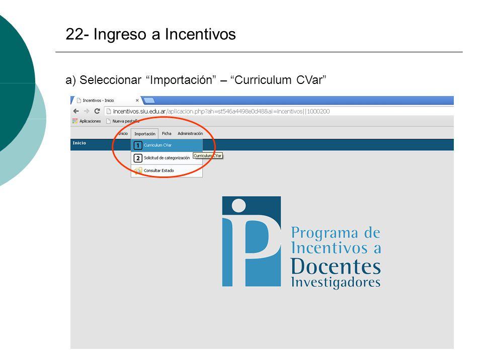 Convocatoria Categorización 2014 Inicio: 03/11/2014 Finalización: 20 ...