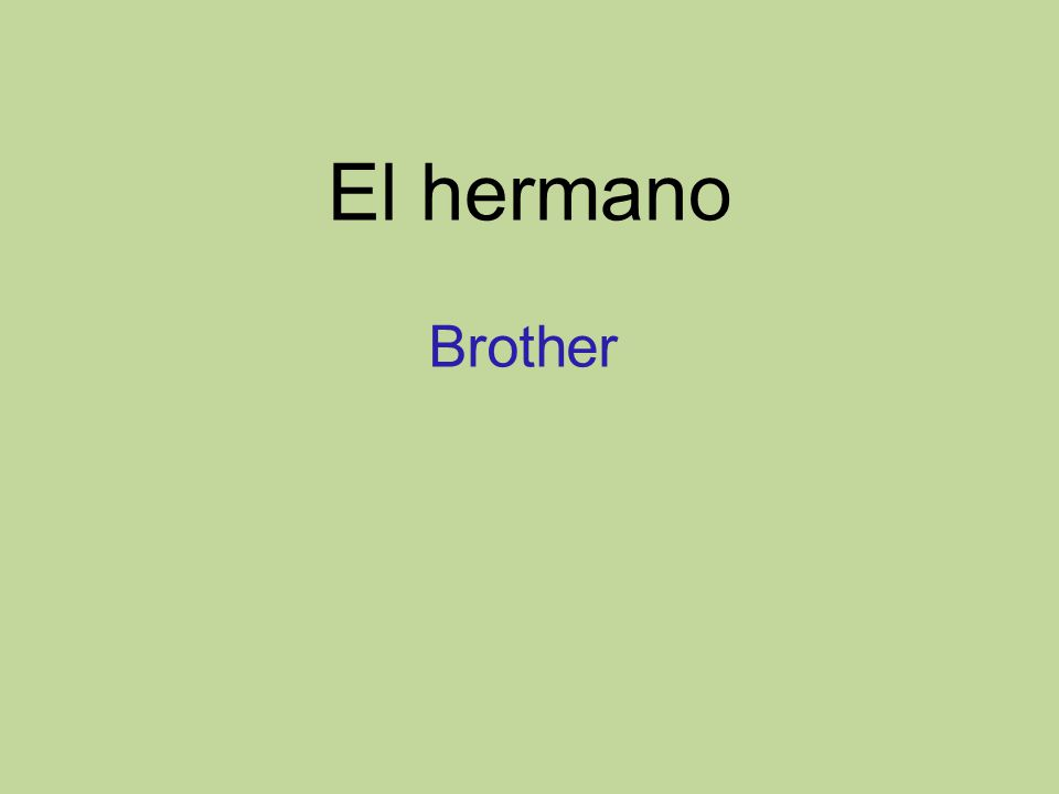 El hermano Brother