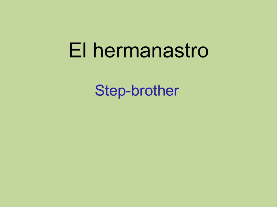 El hermanastro Step-brother
