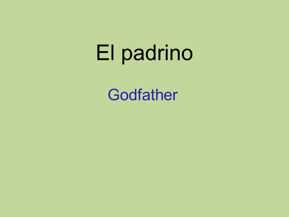 El padrino Godfather