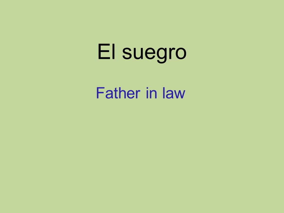 El suegro Father in law
