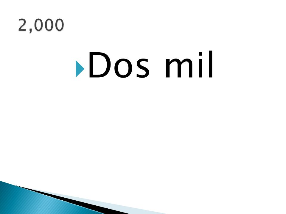  Dos mil