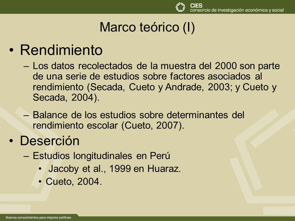 Consorcio de Investigación Económica y Social (CIES ) De 5º de ...