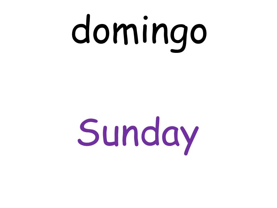 Sunday domingo