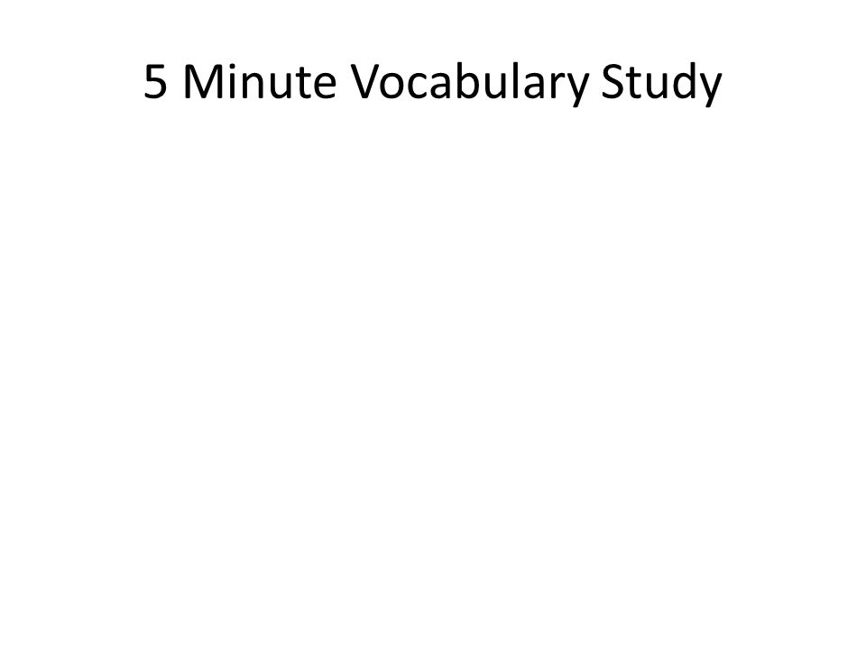 5 Minute Vocabulary Study