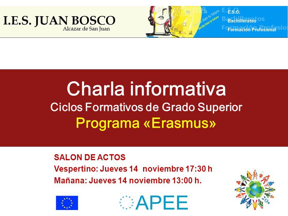 I E S Juan Bosco Nov Charla Informativa Ciclos Formativos