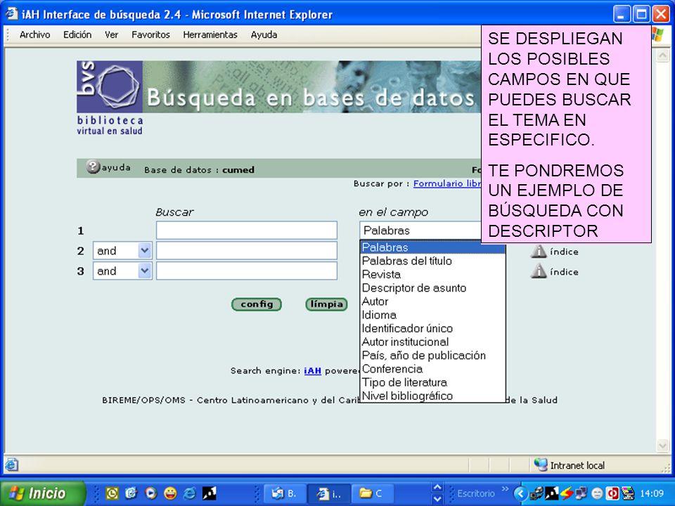MsC. Ileana Armenteros Vera Cumed Esta base de datos bibliográfica ...