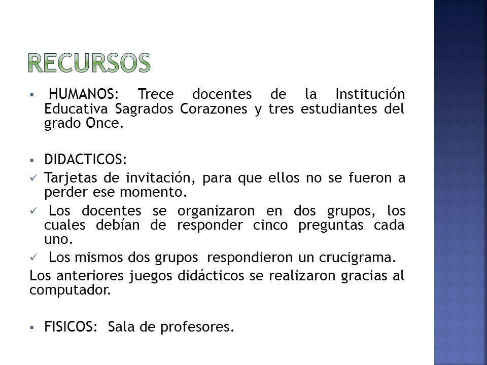 Institucion Educativa Sagrados Corazones Once Modalidad