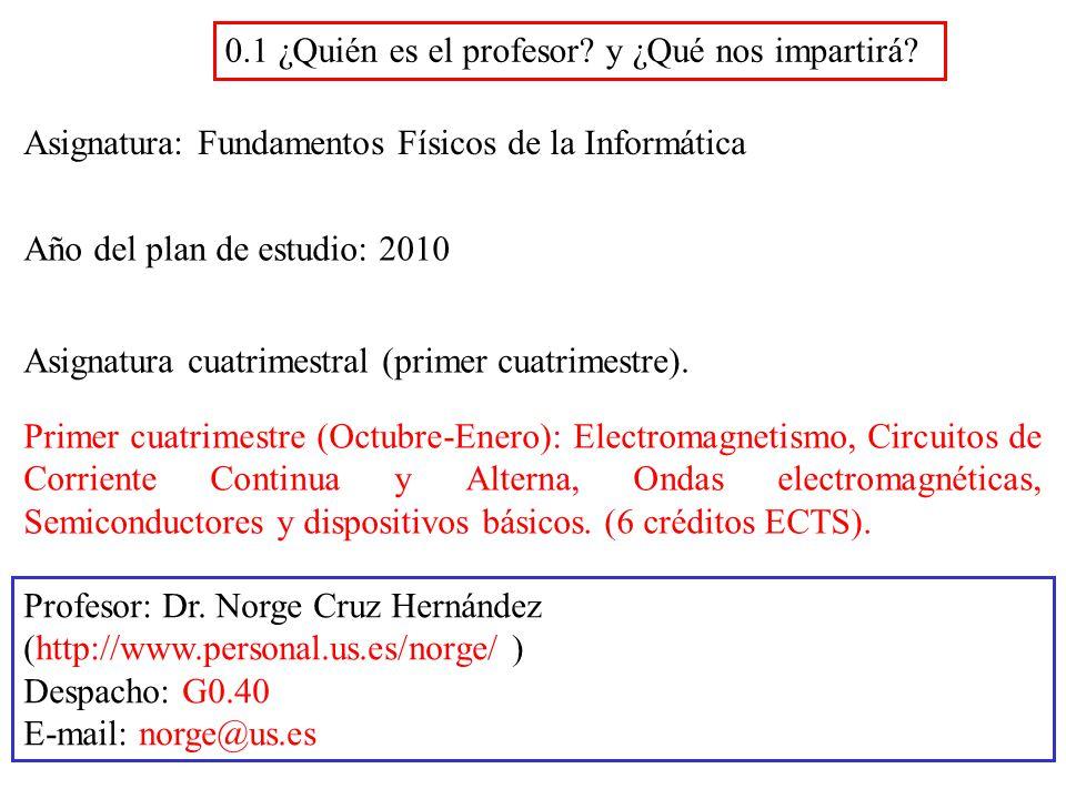 Fundamentos Físicos De La Informática Grado I I Ingeniería Del Software Prof Norge Cruz Hernández Ppt Descargar