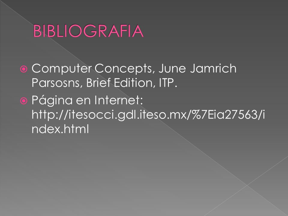  Computer Concepts, June Jamrich Parsosns, Brief Edition, ITP.