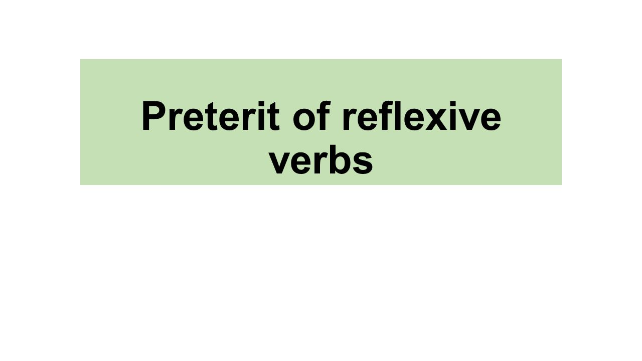 Preterit of reflexive verbs. Levantarse Yo me levant- Yo me levanté ...