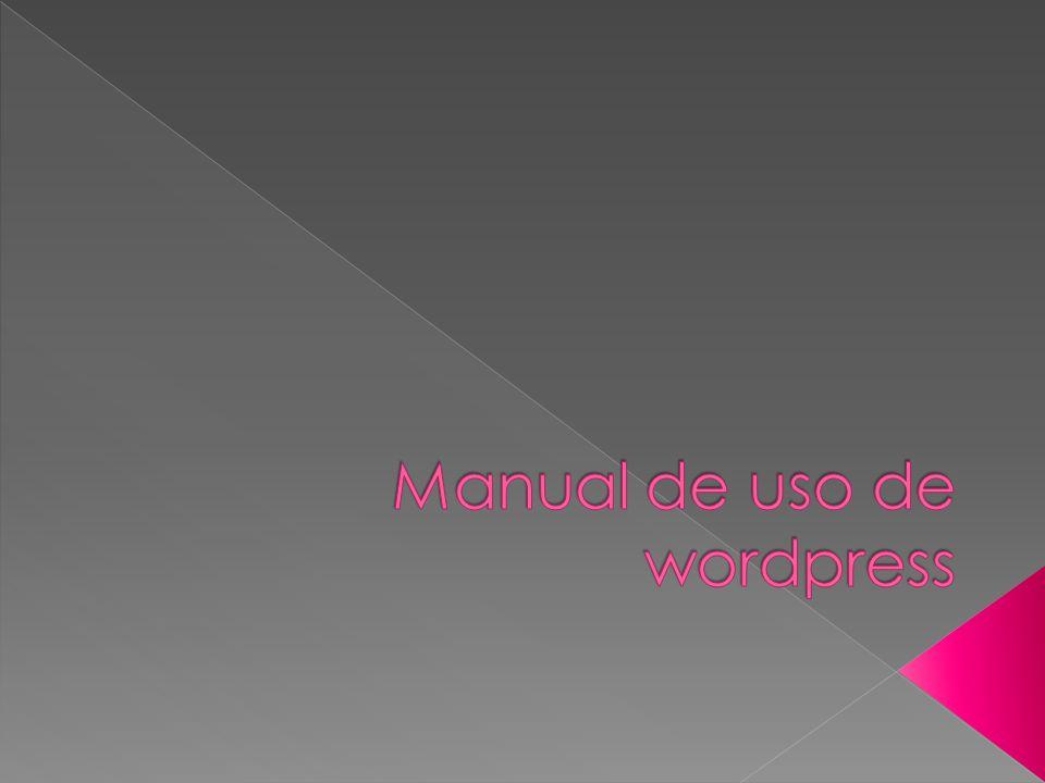 Que es wordpress WordPress es un sistema de gestión de contenidos o ...