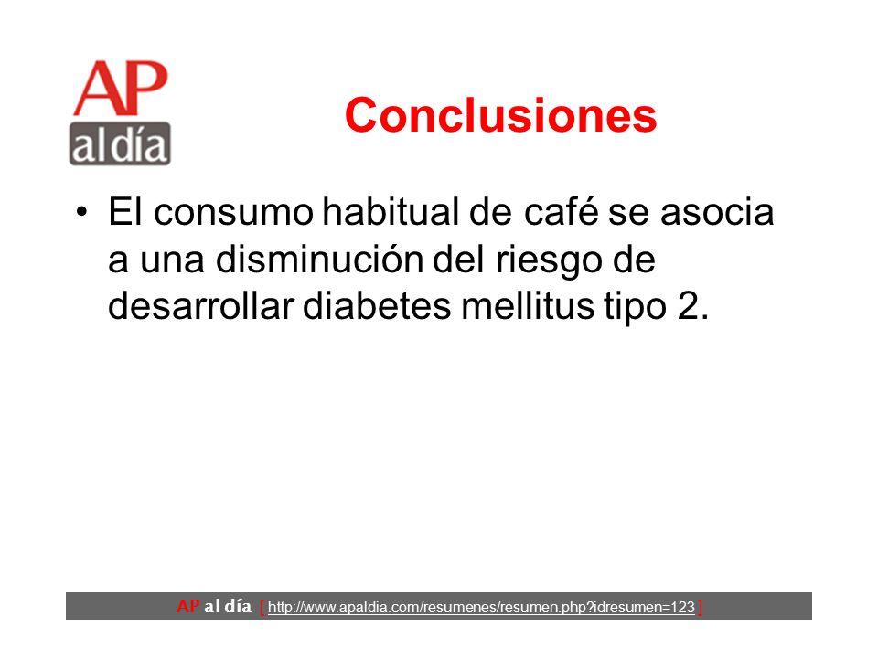 consumo de café y diabetes