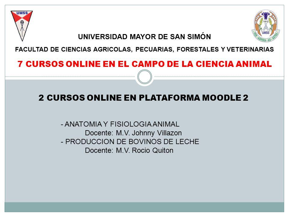 UNIVERSIDAD MAYOR DE SAN SIMÓN FACULTAD DE CIENCIAS AGRICOLAS ...
