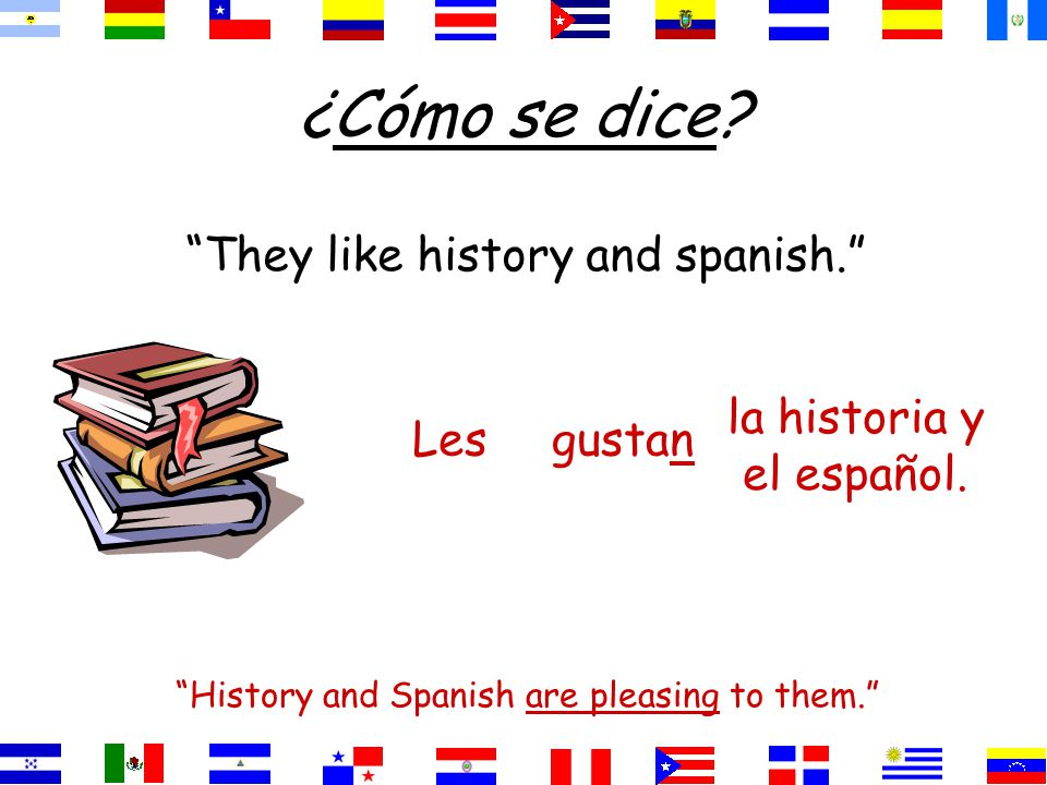 ¿Cómo se dice We like our teachers. Our teachers please us. nuestros profesores. gustanNos