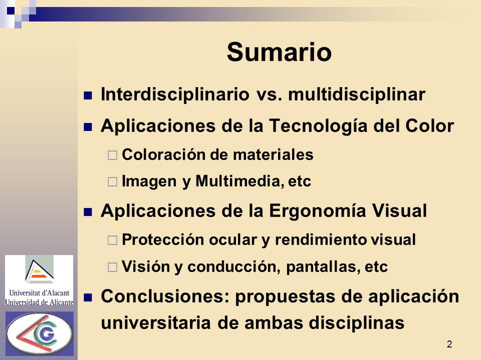 Tecnología del Color y Ergonomía Visual: ejemplos de ...