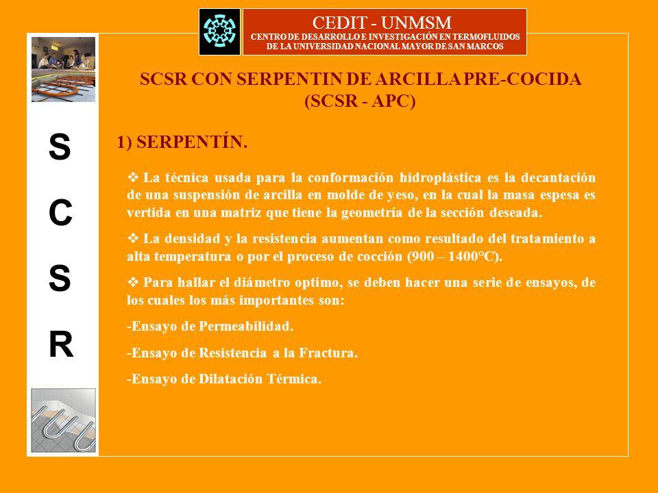 CEDIT - UNMSM CENTRO DE DESARROLLO E INVESTIGACIÓN EN TERMOFLUIDOS ...