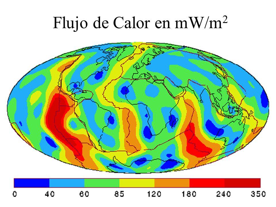Flujo de Calor Sclatter y Tapscott, Regiones tectónicasµcal cm -2 ...