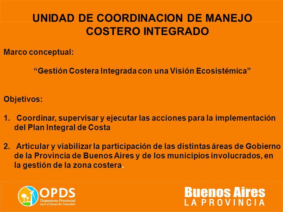 UNIDAD DE COORDINACION DE MANEJO COSTERO INTEGRADO Proyecto FREPLATA ...
