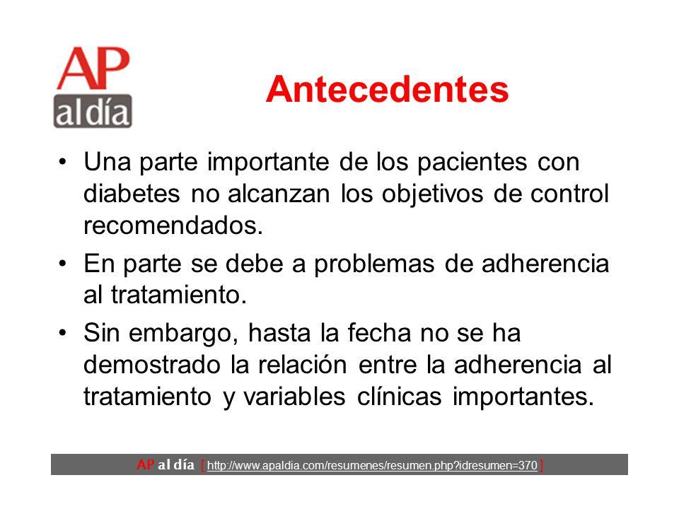 adherencia al tratamiento farmacológico diabetes