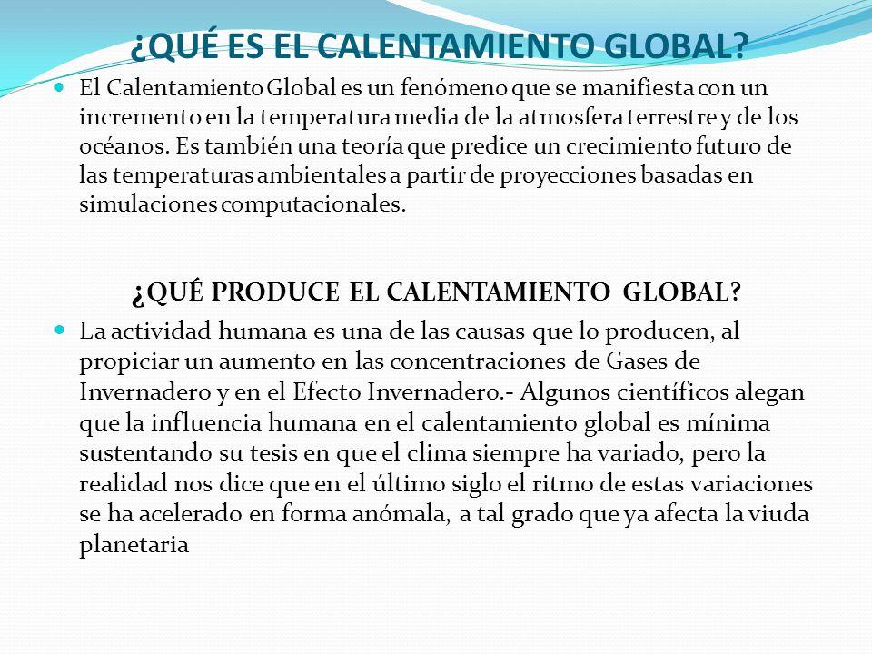 Qué Es El Calentamiento Global Causas Y Consecuencias Soluciones Ppt Descargar