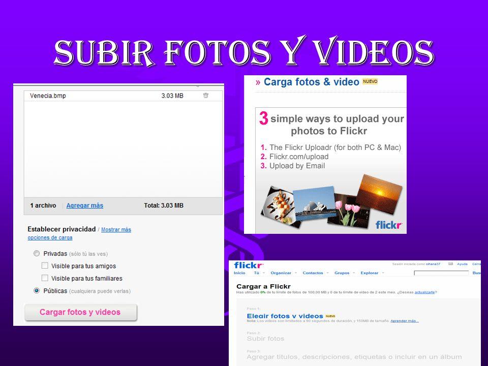 QUE ES FLICKR? Flickr es la mejor manera de almacenar,ordenar ...
