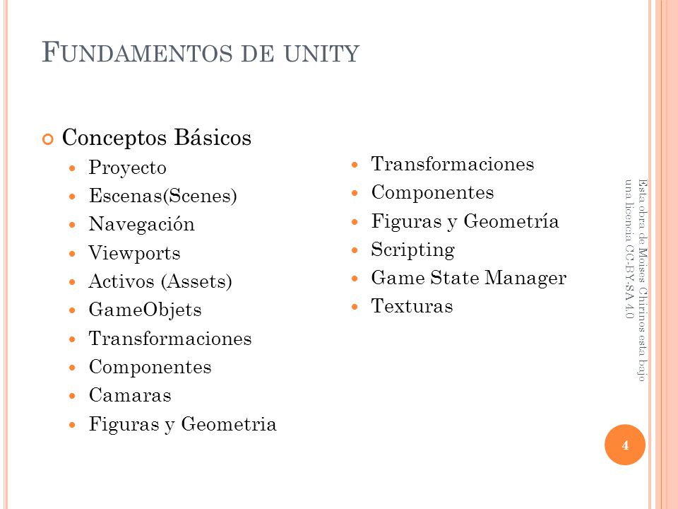 F UNDAMENTOS DE UNITY Presentador: Moises - ppt descargar