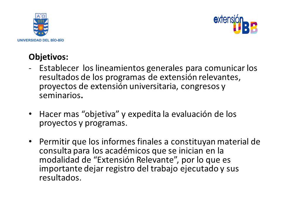 Guia Para La Elaboracion Del Informe Final Programa De Extension