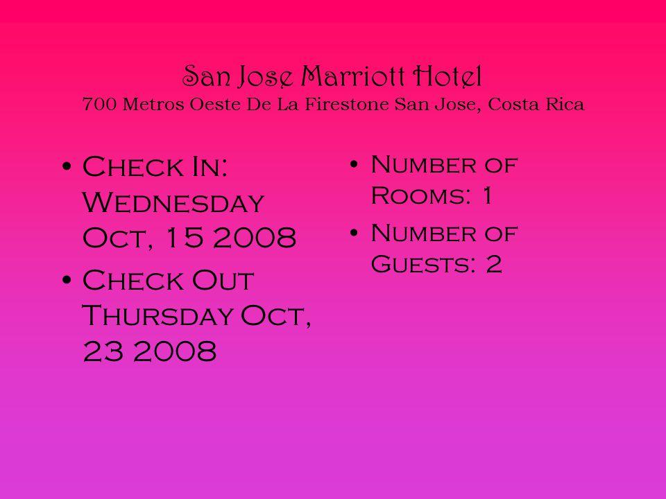 10 San Jose Marriott Hotel 700 Metros Oeste De La