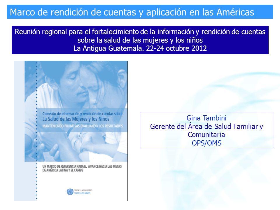 Gina Tambini Gerente del Área de Salud Familiar y Comunitaria OPS ...