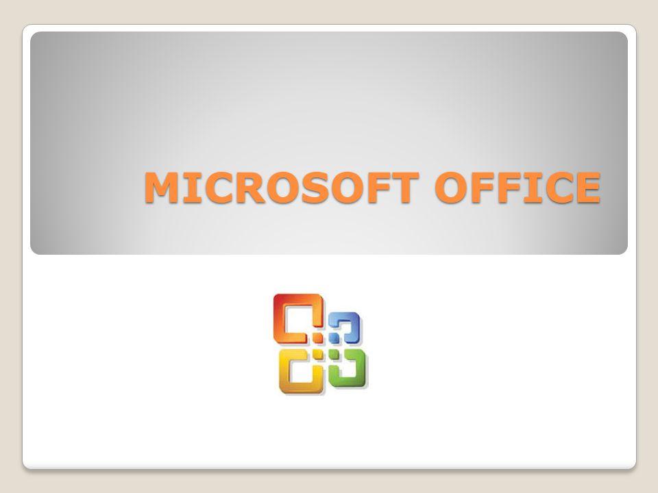 MICROSOFT OFFICE QUE ES Suite ofimática Compuesta por: aplicaciones ...