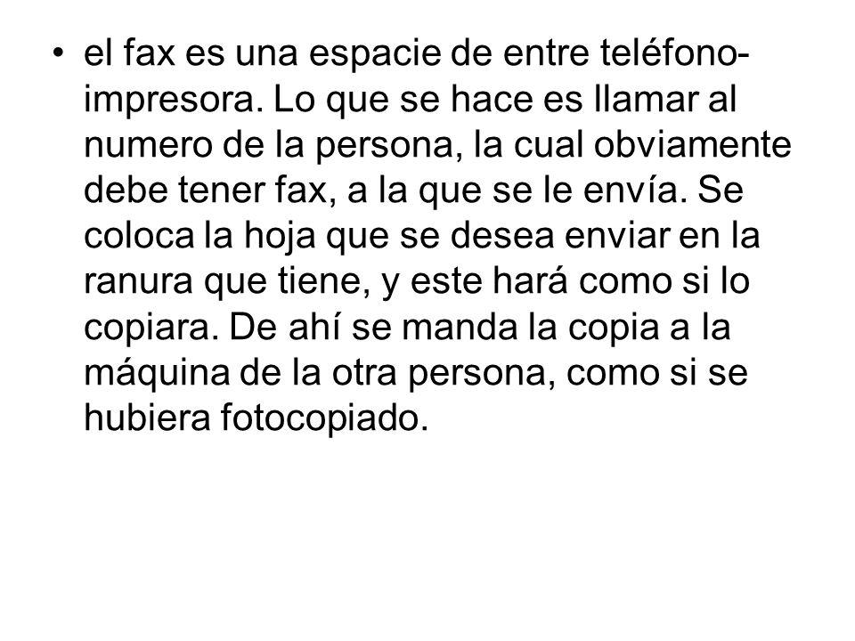 fax su nombre fax viene de facsímil facsímile sirve para mandar