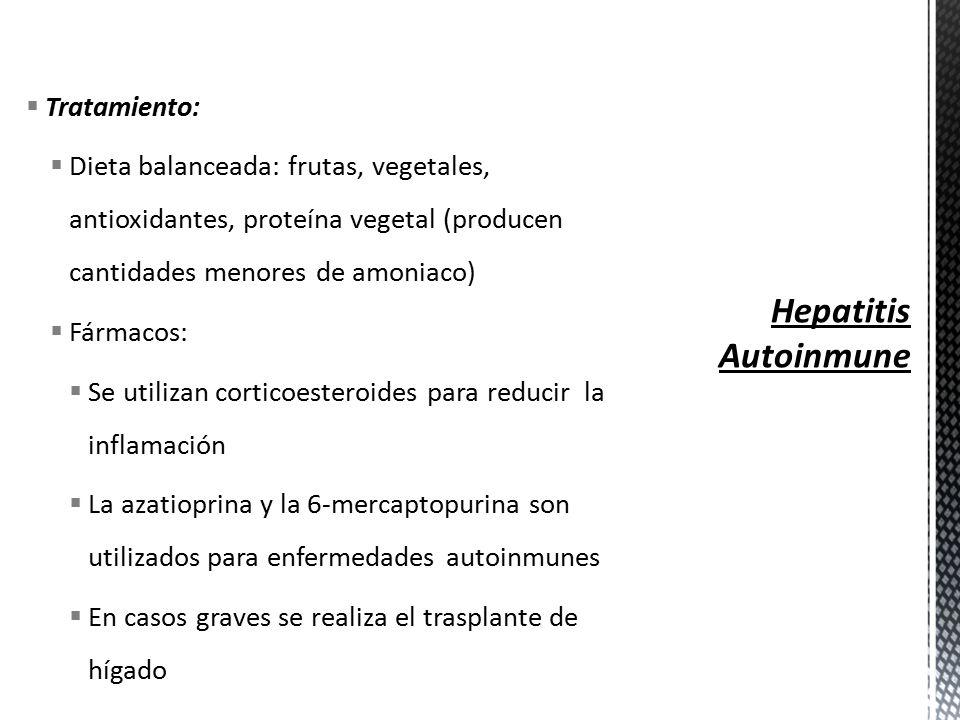 Dieta para pacientes con hepatitis autoinmune