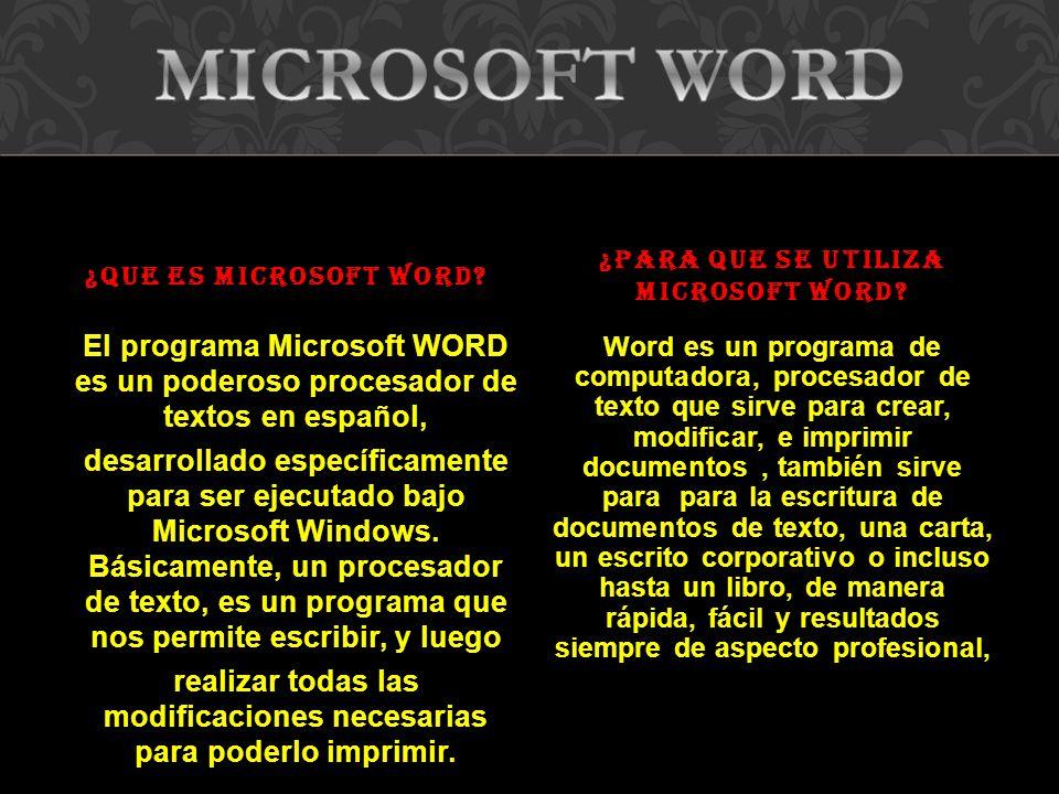 El Programa Microsoft Word Es Un Poderoso Procesador De Textos En