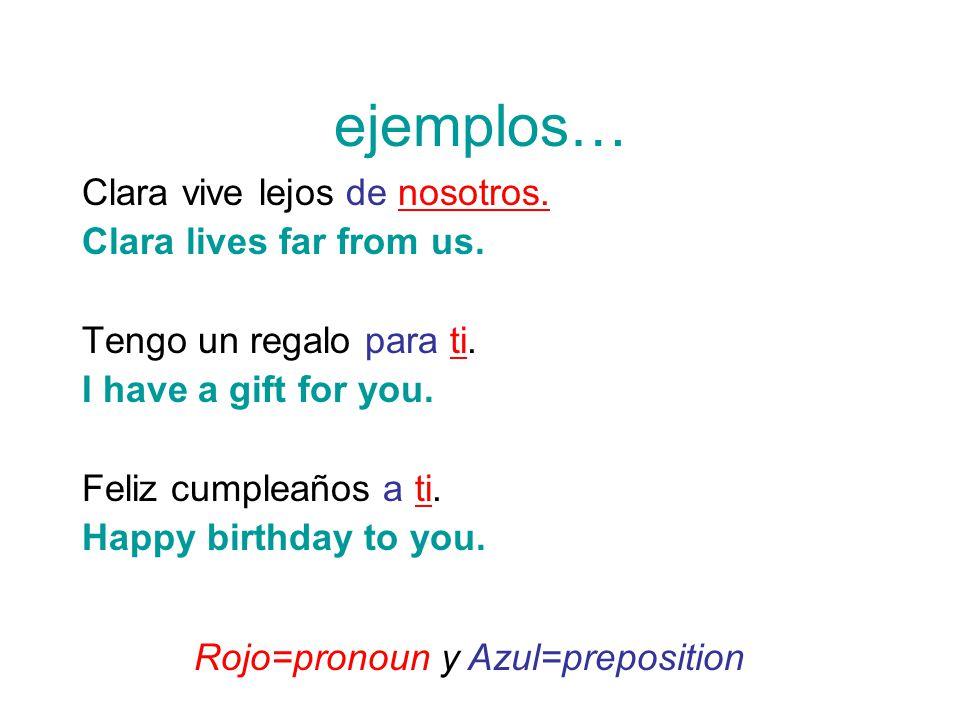 Ejemplos Clara Vive Lejos De Nosotros Lives Far From Us