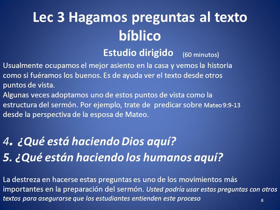 1 Lec 3 Hagamos Preguntas Al Texto Bíblico 2 Prof Samuel