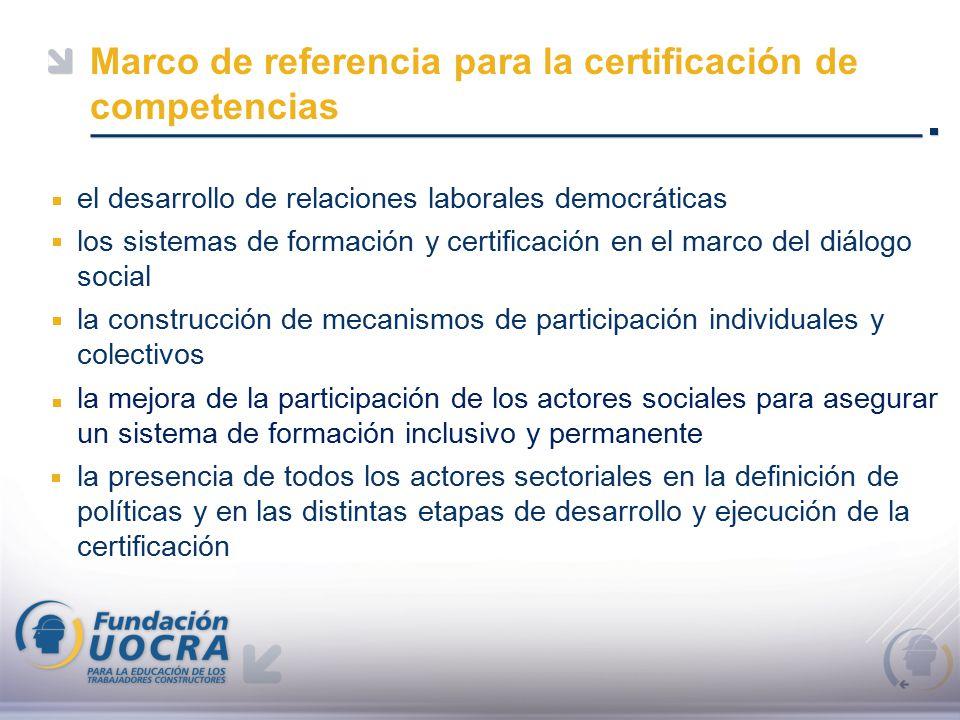 Marco de referencia para la certificación de competencias el ...