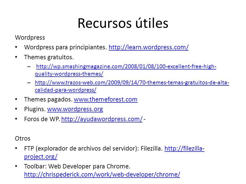 Cómo crear y administrar una web con Wordpress? Santiago, 1 de ...