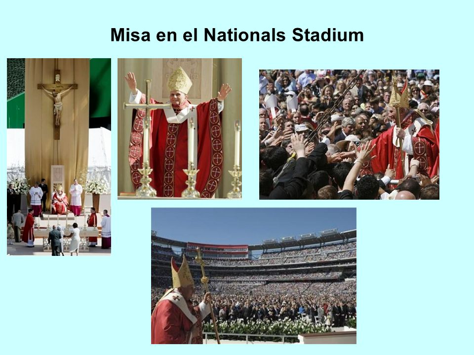 Misa en el Nationals Stadium