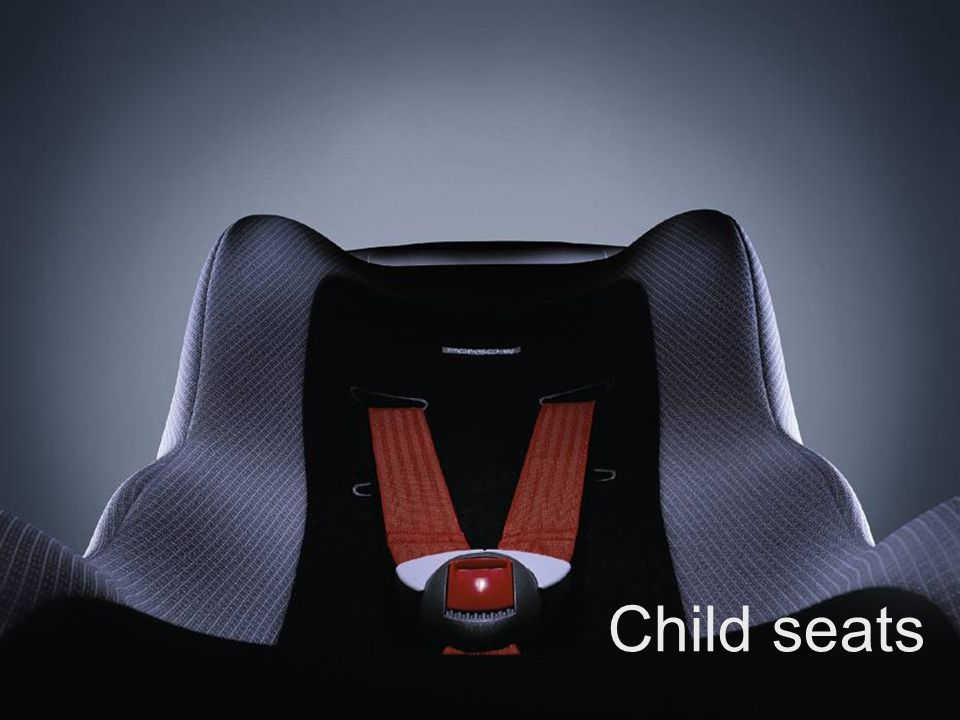 Exclusive and Tequipment training Exclusive and Tequipment product training VRS Sheet 43 Child seats