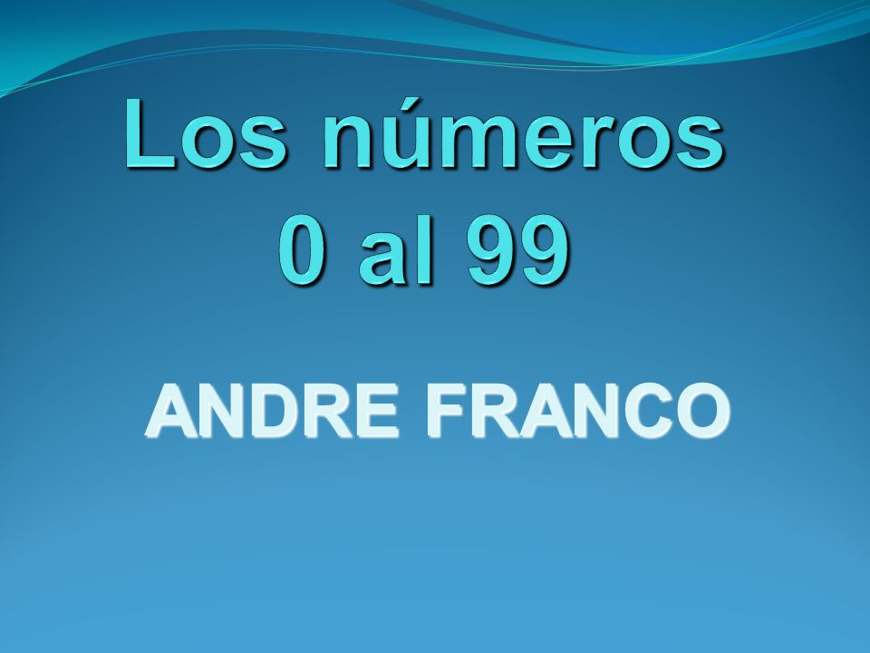 ANDRE FRANCO