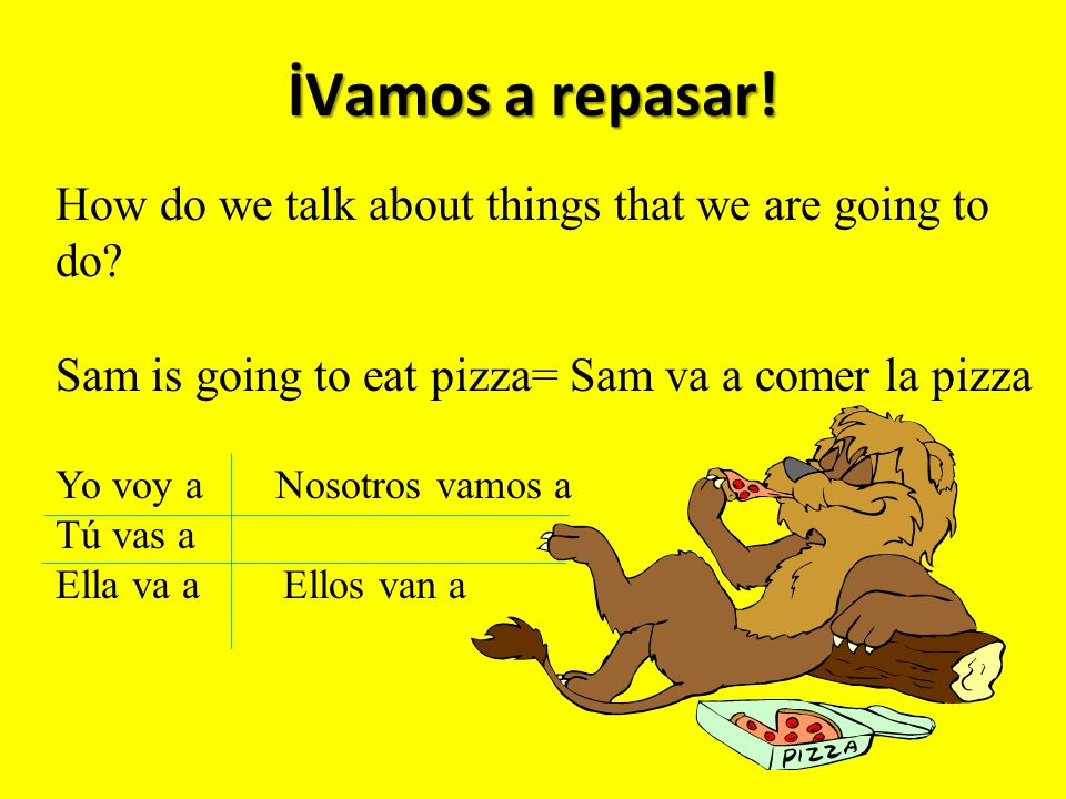 İVamos a repasar. How do we talk about things that we are going to do.