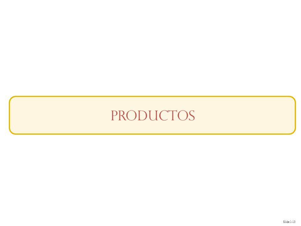 Slide 1-13 productos