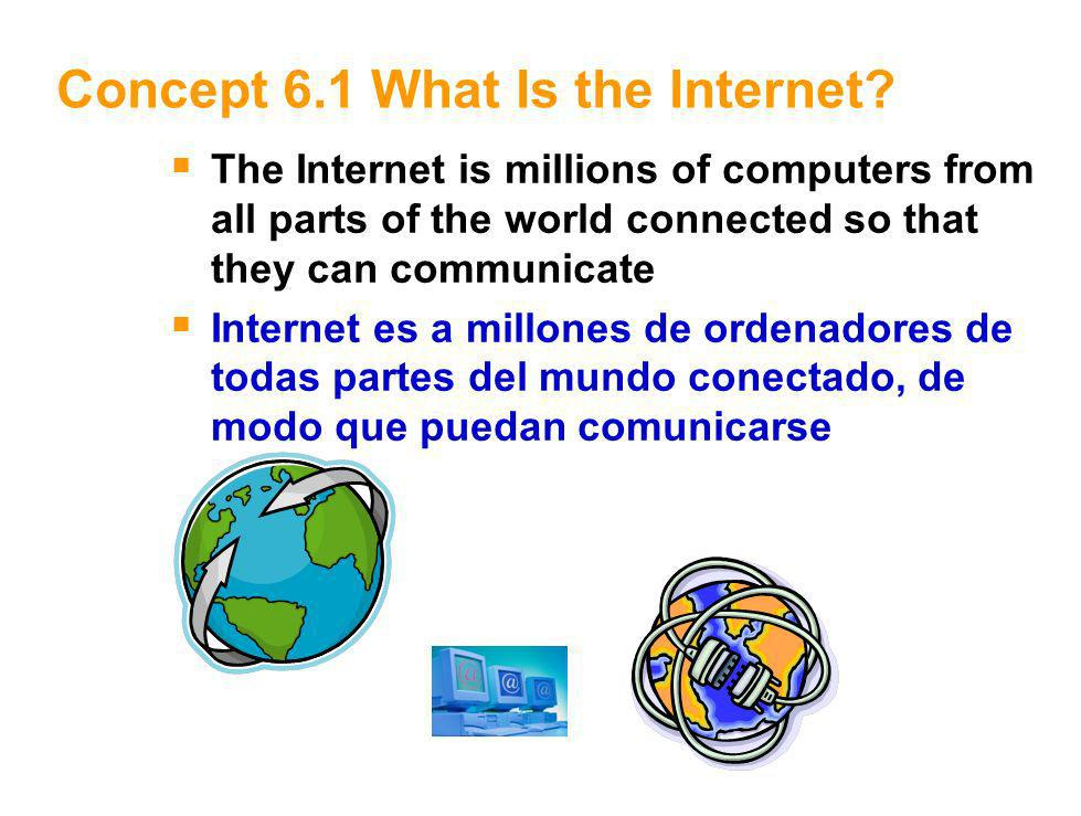 2 Concept 6.1 What Is the Internet.